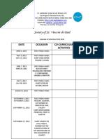 2013 Cal Activities