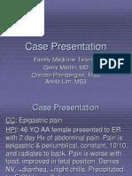 Acute Pancreatitis Presentation
