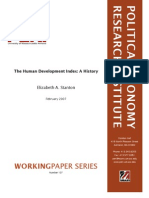 The Human Development Index a History