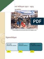 Ενότητα 29η - Οι Βαλκανικοί πόλεμοι