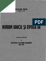 Buta, Nicolae - Avram Iancu Si Epoca Sa