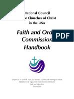 Faith and Order Handbook