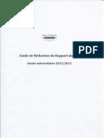 Guide de redaction de Rapport PFE