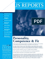 Personality Competence and Fit