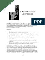 Philosopher Profile Husserl