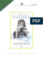 Brandon Sanderson - Aleación de Ley