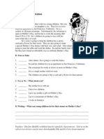 Mothers Day Worksheet Text