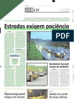 2005.02.06 - Estradas exigem paciência - Estado de Minas