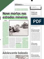 2005.03.26 - Nove Mortos Nas Estradas Mineiras - Estado de Minas