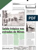 2005.04.23 - Saldo trágico nas estradas de Minas - Estado de Minas