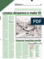 2005.04.24 - Ônibus despenca e mata 10 - Estado de Minas
