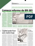 2005.06.21 - Começa reforma da BR-381 - Estado de Minas