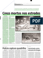 2005.06.27 - Cinco Mortos Nas Estradas - Estado de Minas