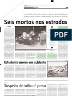 2005.07.08 - Duas vítimas fatais e três feridos na BR-381 - Estado de Minas