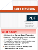 Memory Based Reasoning