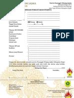 Formulir Pendaftaran Pasanggiri Mojang Jajaka Kabupaten Bogor 2013