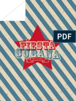 Fiesta Cubana Party Menu