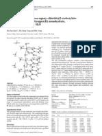 "1267-3643Crystal structure of catena-aqua(--chlorido)(2-carboxylato- 5-methylpyrazine-""2N,O)copper(II) monohydrate, CuCl(H2O)(C6H6N2O2) , H2O"