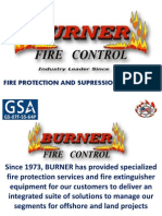 Burner Fire Control Active Fire Protection Line of Equipment.