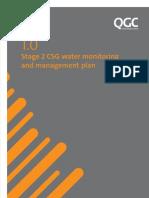 QGC LNG Field at Tara Water Monitoring and Management Plan
