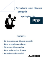 Training Structura Unui Discurs Pregatit