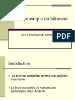 Presentation Acoustique Procedes Generaux de Construction