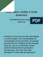 Ácido lático, lactato e limiar anaeróbio