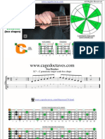 CAGED4BASS C pentatonic major scale box shapes
