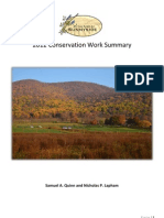 2012 Conservation Work Summary