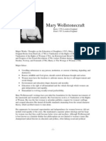 Philosopher Profiles Wollstonecraft