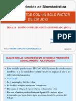DISEÑO DE EXPERIMENTOS CON UN SOLO FACTOR DE ESTUDIO  (DCA)._2013_2