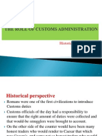 The Role of Customs Administration