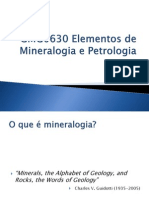GMG0630 Elementos de Mineralogia e Petrologia - Aula 1