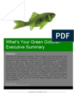 What's Your Green Goldfish Executive Summary