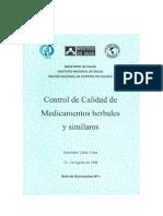 Control Calidad Medicamentos Herbales Peru