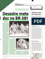 2005.08.06 - Desastre Mata Dez Na BR-381 - Estado de Minas