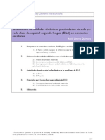 Componentes de una unidad didáctica de L2