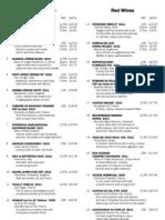 The Corner House Wine List