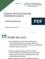 Presentazione attività corso di T.M. Movimento Umano(1)
