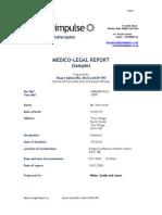 Sample Medico-Legal Report