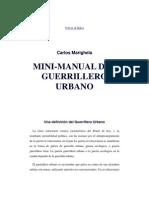Manual Del Guerrillero Urbano, Marighela 1969