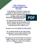 "A ""70th"" Dedication to William (Bill) Cooper (1943-2001)"