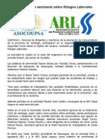 Asocoupsa Realiza Seminario Sobre Riesgos Laborales
