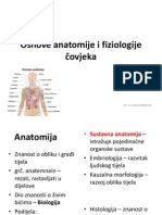 9. Osnove Anatomije i Fiziologije Covjeka