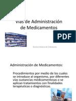 Vías de Administración de Medicamentos I