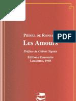 486060 Les Amours Pierre de Ronsard