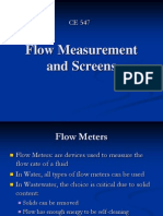 CE 547 - Flow Measurement and Screens