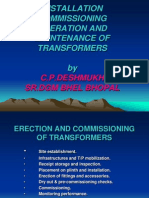 Erection & Commissioning of Trfr.-sh.c.p.deshmukh