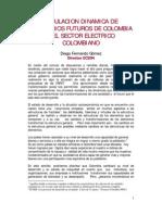 Escenarios Sector Electrico Colombiano - Ecsim