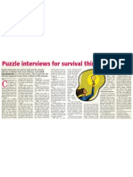 Interviewing Skills - Puzzle Interviewing Part Two - Chandramowly